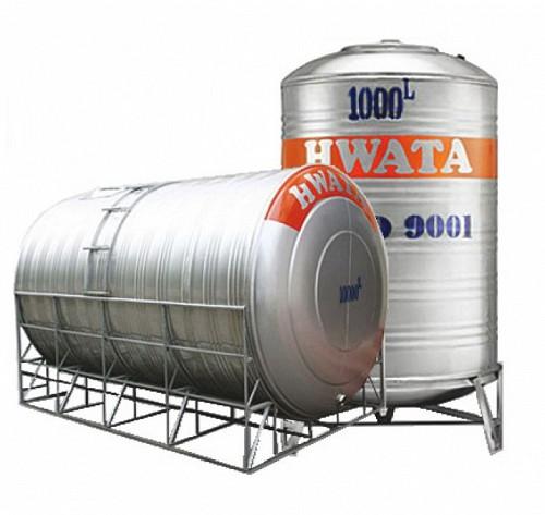 Bồn nước INOX HWATA 3000 lít nằm (ĐK 1160)