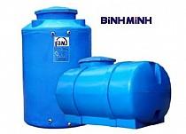 Bồn nước nhựa Bình Minh 1000 lít ngang có đai sắt