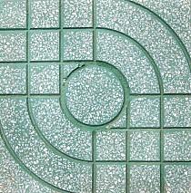 Gạch terrazzo 40x40 QP1 màu xanh
