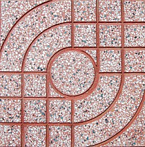 Gạch terrazzo 40x40 QP1 màu đỏ