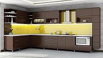 Kính ốp bếp màu vàng tươi