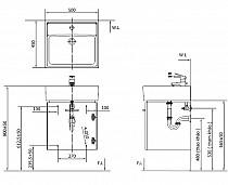 Tủ chậu rửa INAX CB0504-4IF-B