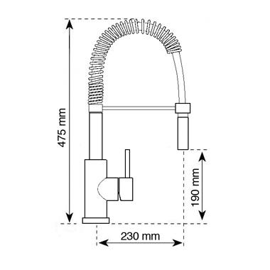 Vòi rửa chén Carysil ARGO I-2388